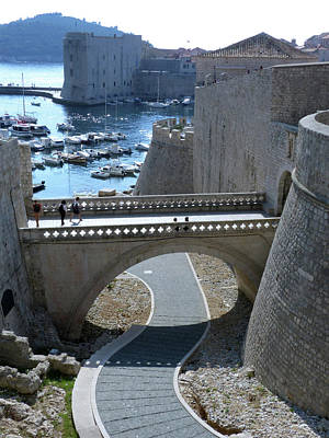 Photograph - Old City Walls And Porat Harbour by Phil Banks