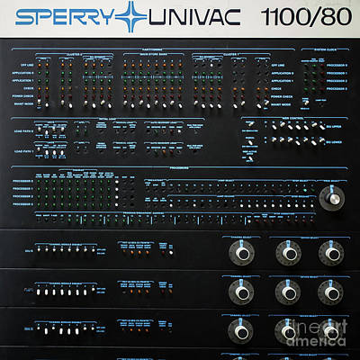 Photograph - Old Classic Early Computer Sperry Univac 1100/80 by Edward Fielding