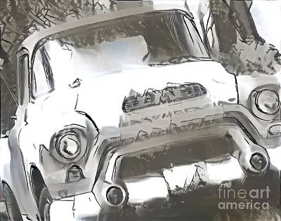 Super Cars Drawing - Old Classic Pickup by Douglas Sacha