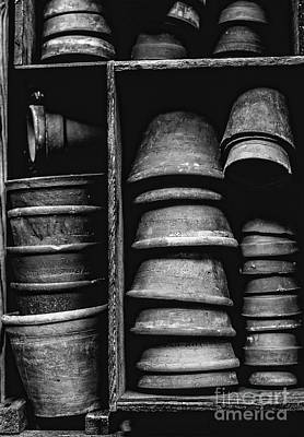 Spring Poster Photograph - Old Clay Pots by Edward Fielding