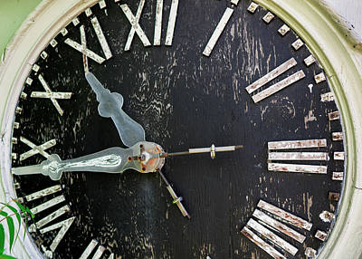 Photograph - Old Clock by Phil Cardamone
