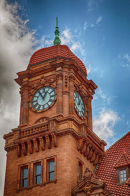 Wall Art - Photograph - Old Clock Tower by Cliff Middlebrook