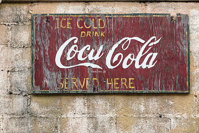 Photograph - Old Coca-cola Sign On A Building In Downtown San Angelo by Carol M Highsmith