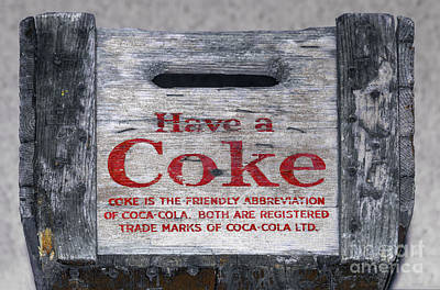 Photograph - Old Coca Cola Wooden Box by Les Palenik