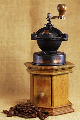 Kaffee Photograph - Old Coffee Grinder by Falko Follert
