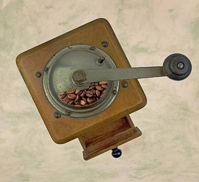 Photograph - Old Coffee Grinder by Manfred Lutzius
