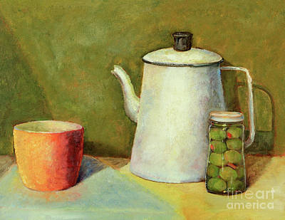 Painting - Old Coffee Pot Still Life by Pattie Calfy