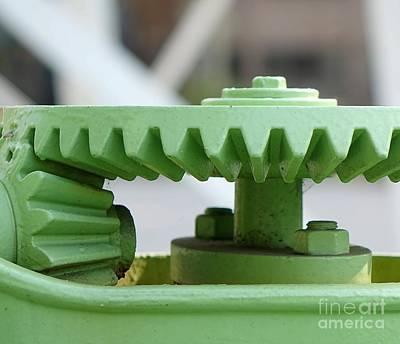 Photograph - Old Cogwheel Gears by Yali Shi