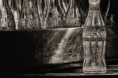 Old Coke Sepia Art Print by JC Findley