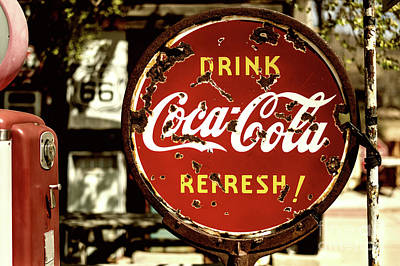 Photograph - Old Coke Sign 1 by M G Whittingham