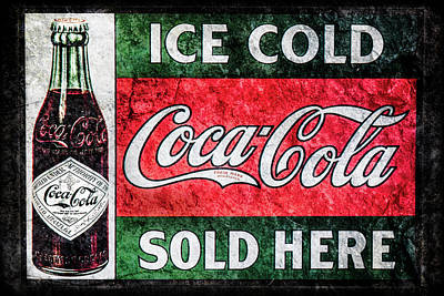 Photograph - Old Coke Sign by Michael Arend