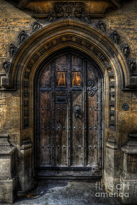Photograph - Old College Door - Oxford by Yhun Suarez