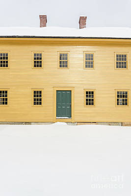Old Colonial Era Period House In Winter Art Print