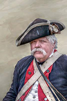 Old Colonial Soldier Portrait Art Print by Randy Steele