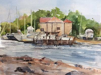 Painting - Old Colony Yacht Club by Tom Steiner