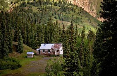 Photograph - Old Colorado Mining House by Linda Unger