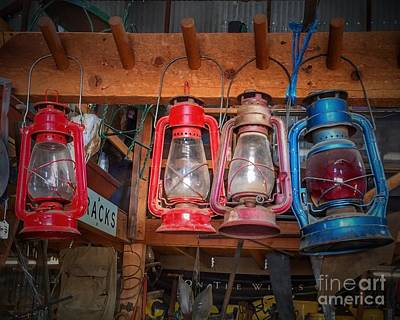 Painting - Old Colorful Lanterns by Anne Sands