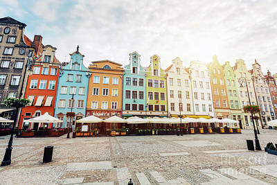 Photograph - Old Colorful Tenement Buildings Located In Gdansk by Michal Bednarek