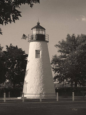 Old Concord Point Light Print by Gordon Beck