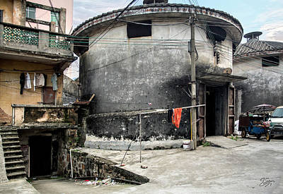 Photograph - Old Concrete House In Shilong by Endre Balogh