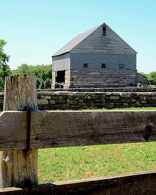 Buttonwood Farm Photograph - Old Connecticut Barn by Corinne Rhode