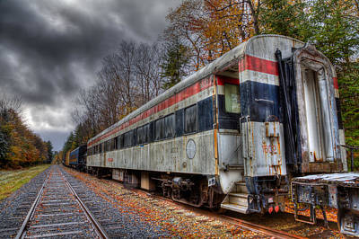 Old Connecticut Department Of Transportation Rail Car Art Print