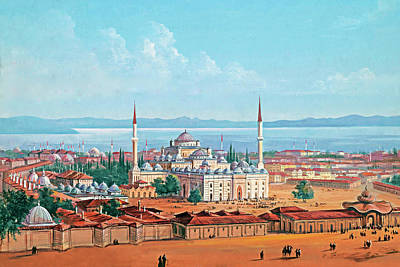 Old Church Painting - Old Constantinople by Munir Alawi