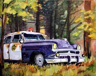 Old Cop Car Original