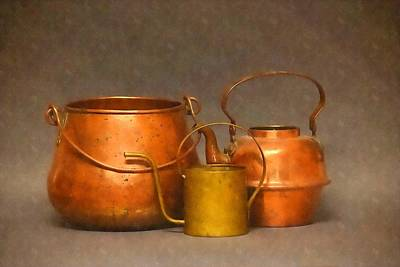 Photograph - Old Copper And Brass by Frank Wilson