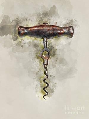Cabernet Photograph - Old Corkscrew by Jon Neidert