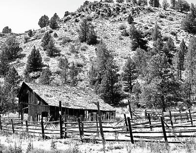 Photograph - Old Corral And Barn by Ansel Price