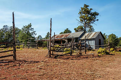 Photograph - Old Corral by Doug Long