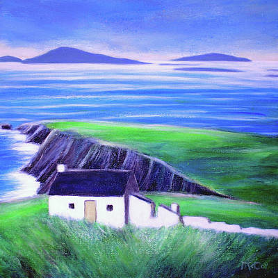 Painting - Old Cottage And Ruins, Dingle Peninsula by K McCoy