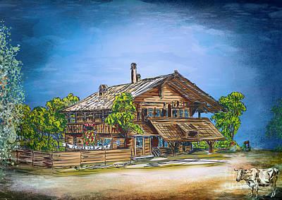 Painting - Old Cottage by Andrzej Szczerski