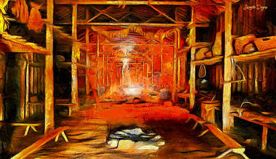 Trussed Painting - Old Cottage - Pa by Leonardo Digenio