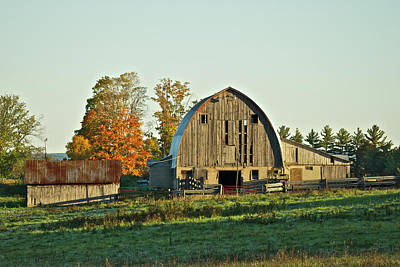 Old Country Barn_9302 Art Print by Michael Peychich