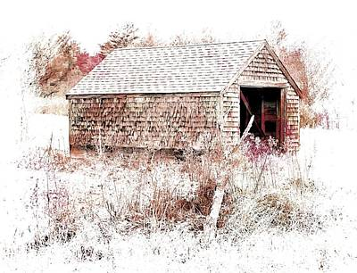 Maine Old Barn Photograph - Old Country Building by Marcia Lee Jones