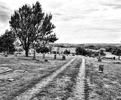 Photograph - Old Country Cemetery Road by Ann Powell