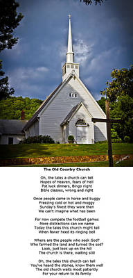 Photograph - Old Country Church by John Haldane