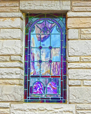 Photograph - Old Country Church Stained Glass Window by Sandi OReilly