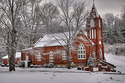 Winter Trees Photograph - Old Country Church by Todd Hostetter