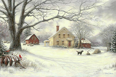 Wall Art - Painting - Old Country Farm by Chuck Pinson