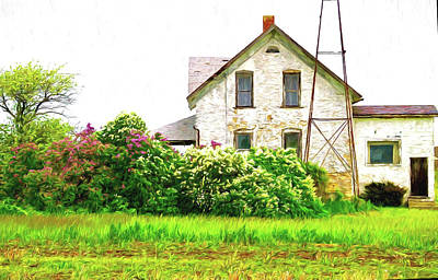 Photograph - Old Country House by Susan Crossman Buscho