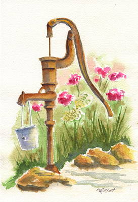 Old Country Pump Art Print by Marsha Elliott
