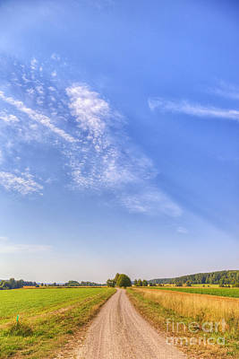 Painterly Photograph - Old Country Road by Veikko Suikkanen