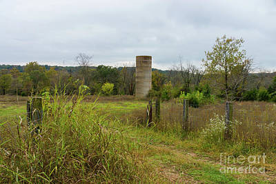 Photograph - Old Country Silo Landscape by Jennifer White