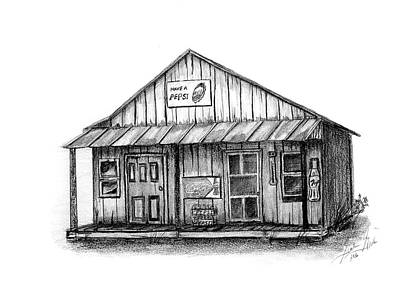 Country Store Drawing - Old Country Store by Gordan Graham