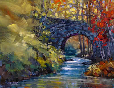 Old County Farm Bridge Art Print