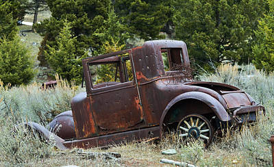 Photograph - Old Coupe In Bad Condition by Kae Cheatham