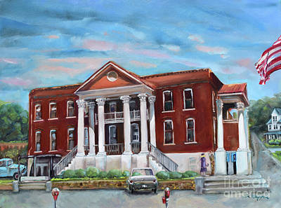 Painting - Old Courthouse In Ellijay Ga - Gilmer County Courthouse by Jan Dappen